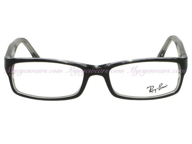 168c5d240779 ... shop ray ban rx5114 2034 black on clear eyeglasses 9569e dfef1