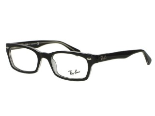 Ray Ban RX5150 2034 Black on Clear Eyeglasses