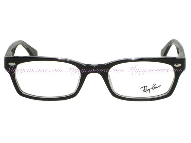 70eec666a2 Ray Ban-Ray Ban RX5150 2034 Black on Clear Eyeglasses- - Online Sale ...