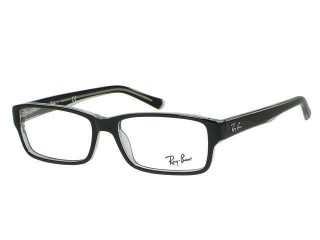 Ray Ban RX5169 2034 Top Black On Transparent Eyeglasses