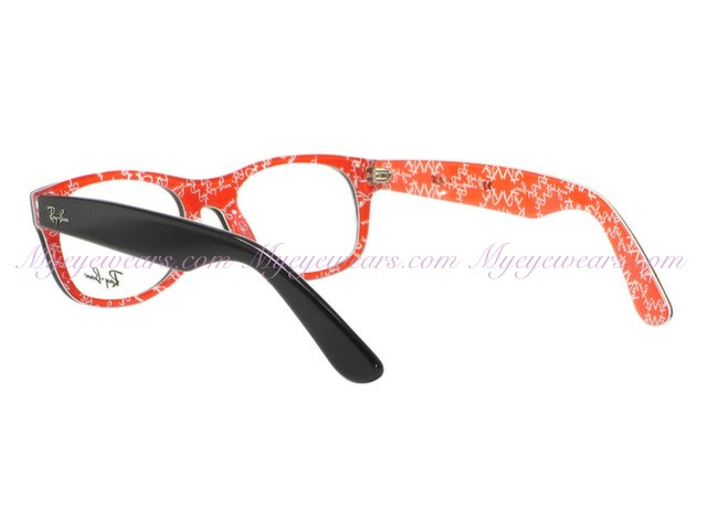 567150125d838 Ray Ban-Ray Ban RX5184 New Wayfarer 2479 Black Crystal Red 52mm ...
