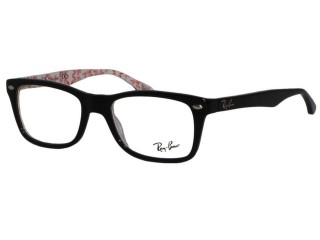 Ray Ban RX5228 5014 Top Black On Texture