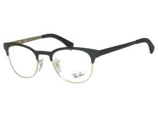 Ray Ban RX6317 Clubmaster Style 2833 Black On Gold