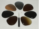 Original Ray Ban  RB3025 Aviator Replacement Lens only (Pair)