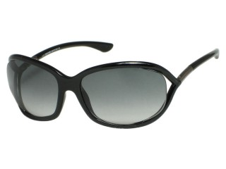 Tom Ford TF8 Jennifer 01B Shiny Black Sunglasses