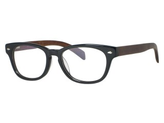Genuine Wood Tony Morgan 3161 Black  Vintage style Eyeglasses