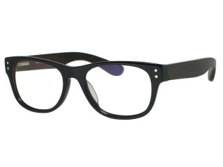 Genuine Wood Tony Morgan 3162 Black Vintage style Eyeglasses