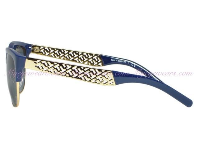 91c545347f3c Tory Burch-Tory Burch TY6032 Navy Gold 3014/4L Fret-T Sunglasses ...