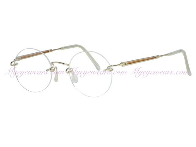 d0198b739df Kazuo Kawasaki-Kazuo Kawasaki Eyewear 637 Gold Orange Eyeglasses ...