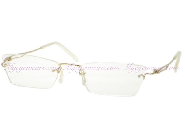 963538c4f920 Kazuo Kawasaki-Kazuo Kawasaki Eyewear 638 White Gold GI Shape ...