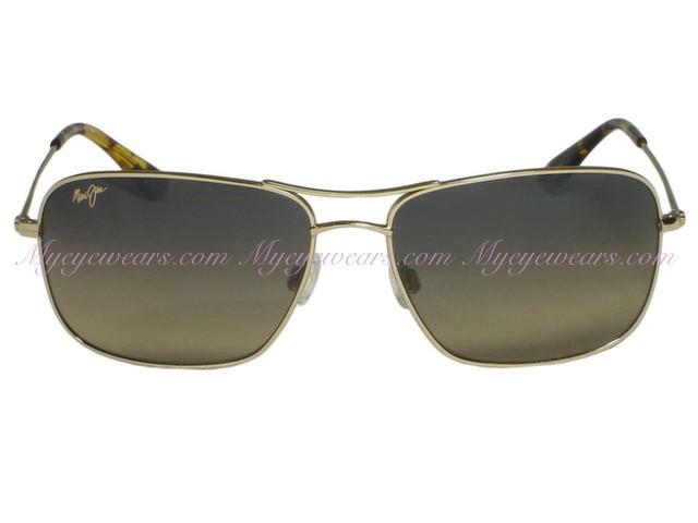 2956599e1ac89 Maui Jim-Maui Jim Wiki Wiki 246-16 Gold Polarized Sunglasses ...