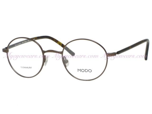 8a53f49fdd2 Modo-Modo Eyewear Mod 130 Antique Bronze Titanium Round Eyeglasses ...