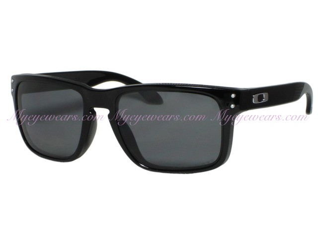 cdbf7257915 Oakley-Oakley Holbrook OO9102-02 Shiny Black Polarized Sunglasses ...