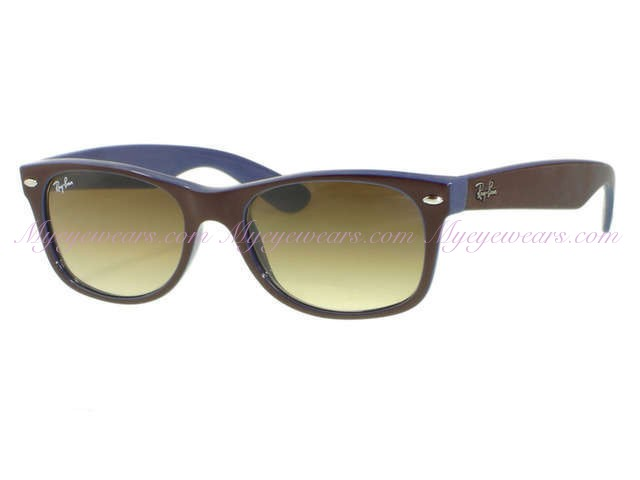 a2c64cfbb5d Ray Ban-Ray Ban RB2132 New Wayfarer 874 51 Top Brown On Blue ...