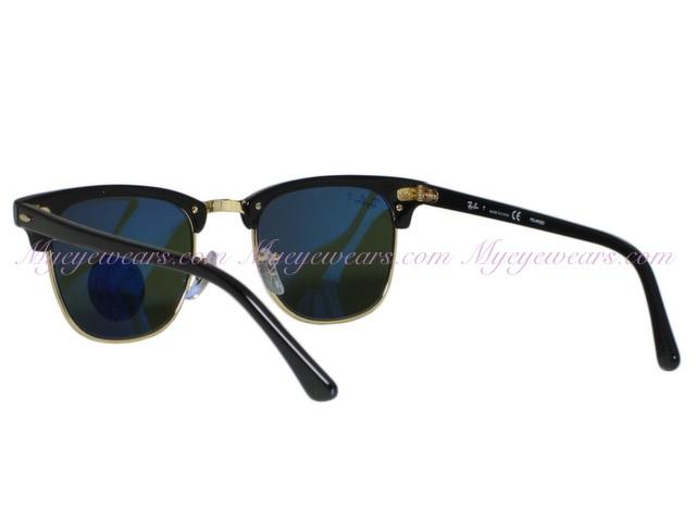 8a77d4cc1ec96 Ray Ban-Ray Ban RB3016 Clubmaster 901 58 Black Polarized Sunglasses ...