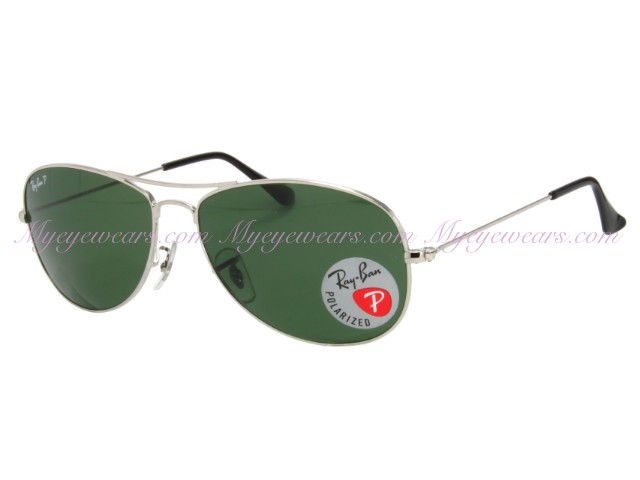 8313f6b565 Ray Ban-Ray Ban RB3362 Cockpit 003 58 Silver Polarized 59mm ...