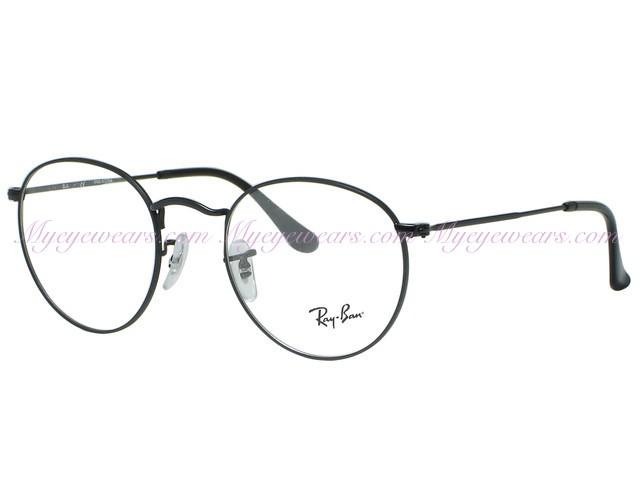 f7d247a8506 Ray Ban-Ray Ban RX3447V Round 2503 Matte Black Eyeglasses- - Online ...