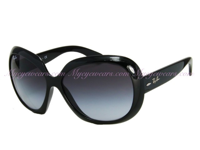 50d30bf1a1 Ray Ban-Ray Ban RB4098 Jackie Ohh II 601 8G Shiny Black Sunglasses ...