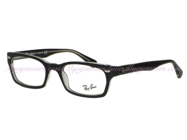 640f1b836d5 Ray Ban-Ray Ban RX5150 2034 Black on Clear Eyeglasses- - Online Sale ...