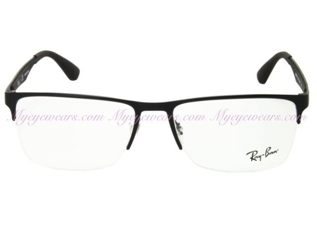 064df21fbee Ray Ban-Ray Ban RX6335 Matte Black 2503 Eyeglasses- - Online Sale ...