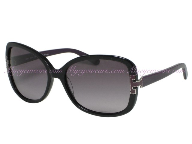 810c40e61b7 Tory Burch-Tory Burch TY7022 Black Purple 935 8H T-Hinge Sunglasses ...